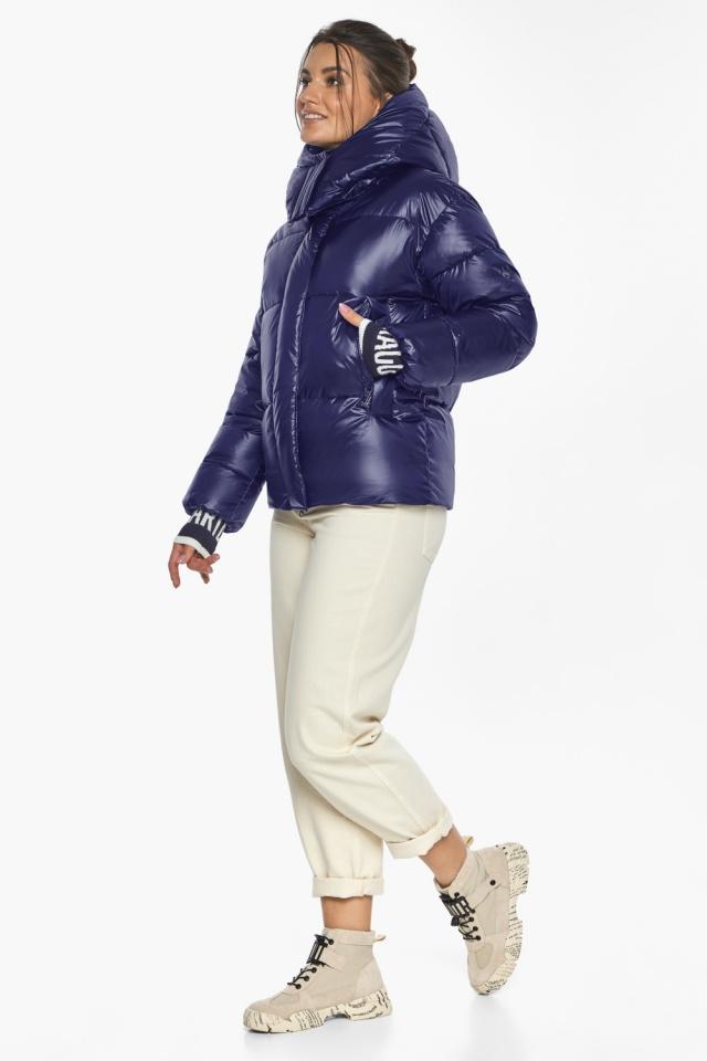 """Куртка синяя брендовая зимняя женская модель 44520 Braggart """"Angel's Fluff"""" фото 2"""