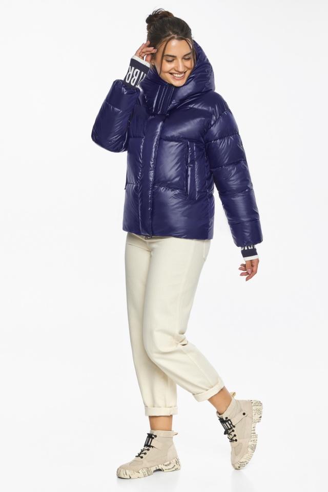 """Куртка синяя брендовая зимняя женская модель 44520 Braggart """"Angel's Fluff"""" фото 5"""