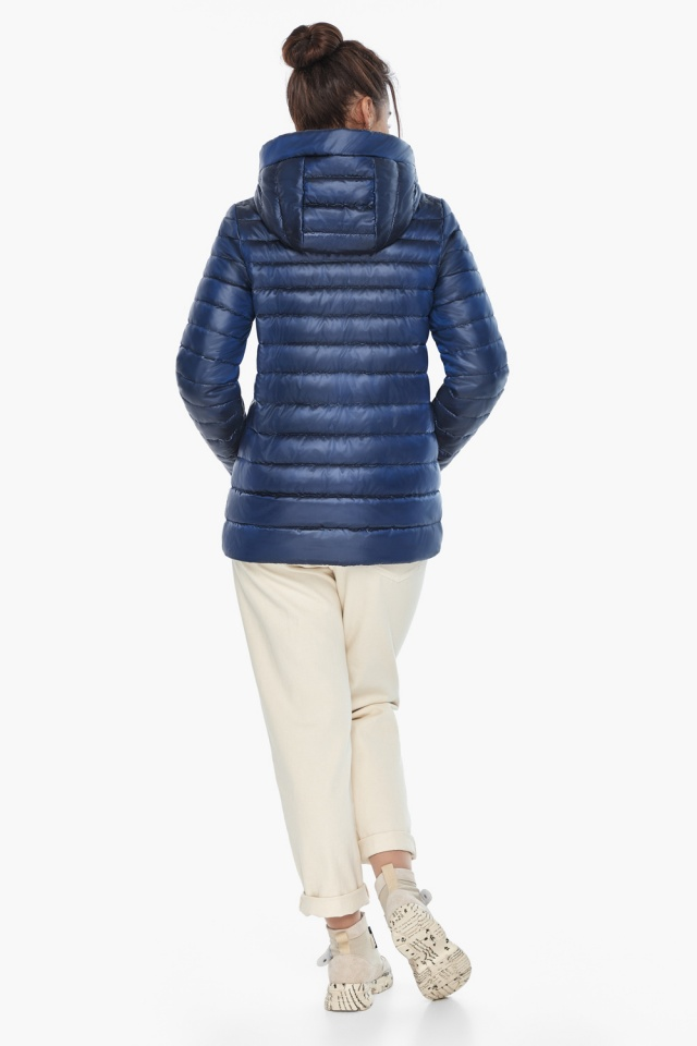 """Куртка короткая женская сапфировая модель 68240 Braggart """"Angel's Fluff"""" фото 6"""
