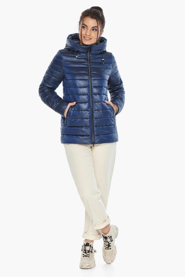 """Куртка короткая женская сапфировая модель 68240 Braggart """"Angel's Fluff"""" фото 2"""