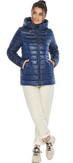"""Куртка короткая женская сапфировая модель 68240 Braggart """"Angel's Fluff"""" фото 1"""
