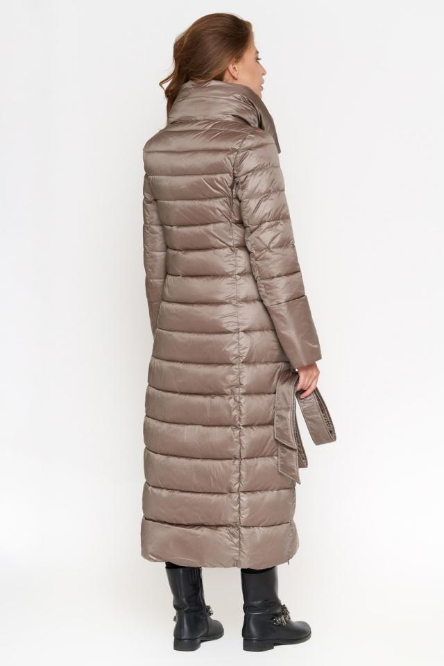Куртка женская осенне-весенняя длинная цвет капучино модель 848