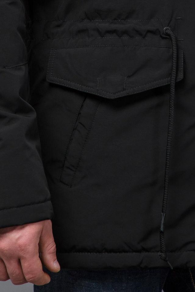 Зимняя парка практичная черного цвета мужская модель 71360 Tiger Force фото 7