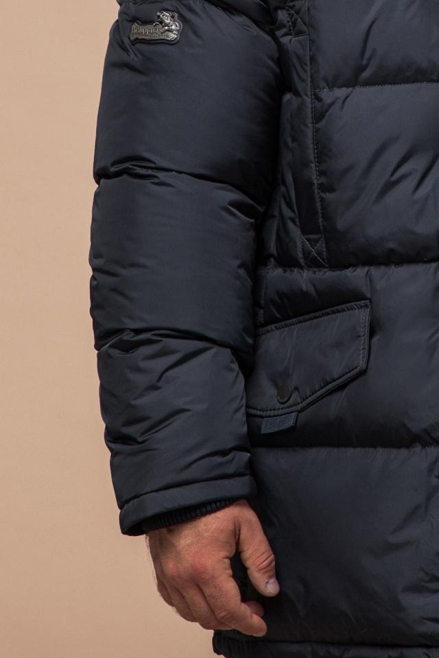 """Чоловіча зимова куртка великого розміру стильна графітова модель 2084 Braggart """"Titans"""" фото 7"""