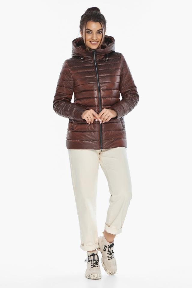 """Оригинальная куртка женская цвет каштановый модель 68240 Braggart """"Angel's Fluff"""" фото 2"""