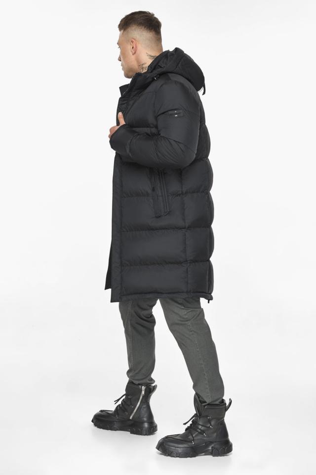 """Длинная куртка для мужчин зимняя графитовая модель 49773 Braggart """"Dress Code"""" фото 7"""