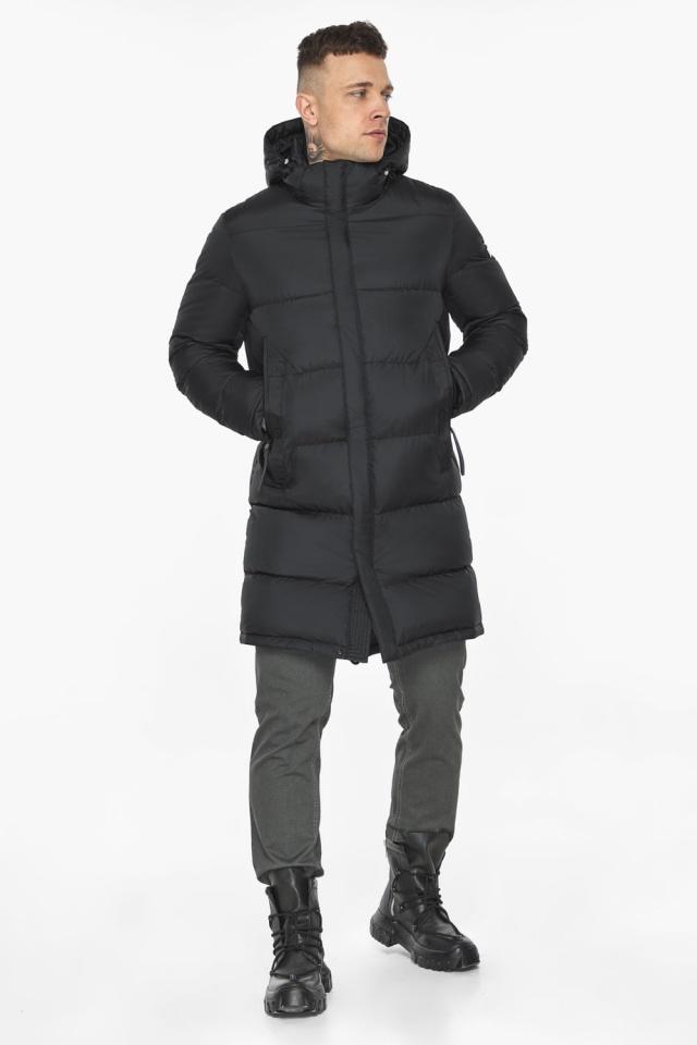 """Длинная куртка для мужчин зимняя графитовая модель 49773 Braggart """"Dress Code"""" фото 3"""