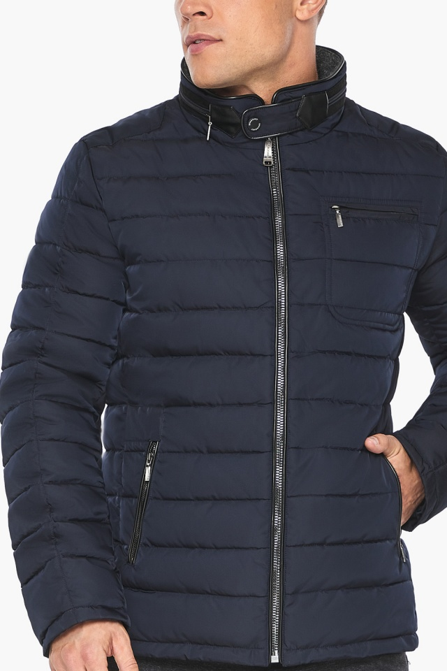 "Куртка – воздуховик с карманами зимний тёмно-синий мужской модель 52570 Braggart ""Angel's Fluff Man"" фото 8"