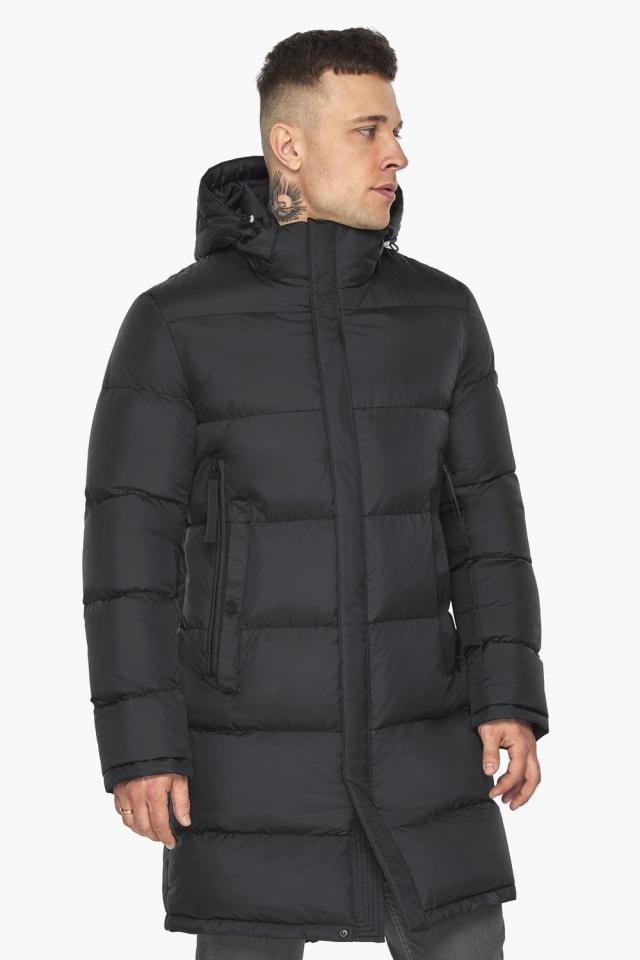 """Длинная куртка для мужчин зимняя графитовая модель 49773 Braggart """"Dress Code"""" фото 5"""