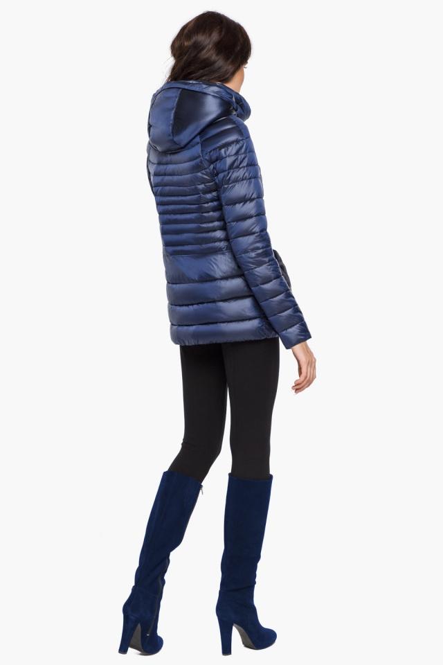 """Сапфировая куртка короткая осенне-весенняя женская модель 15115 Braggart """"Angel's Fluff"""" фото 5"""