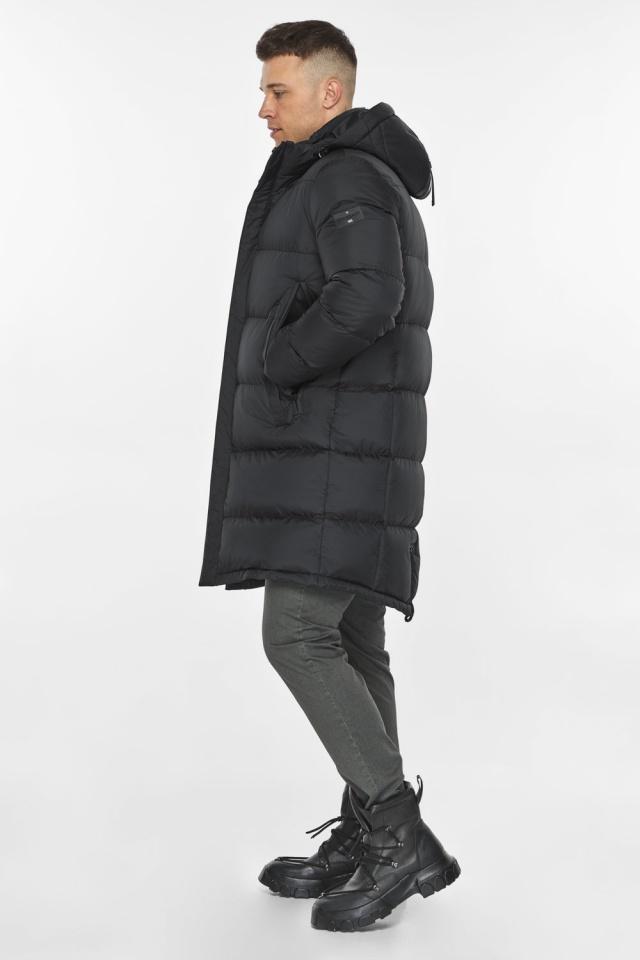 """Длинная куртка для мужчин зимняя графитовая модель 49773 Braggart """"Dress Code"""" фото 8"""