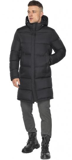 """Длинная куртка для мужчин зимняя графитовая модель 49773 Braggart """"Dress Code"""" фото 1"""