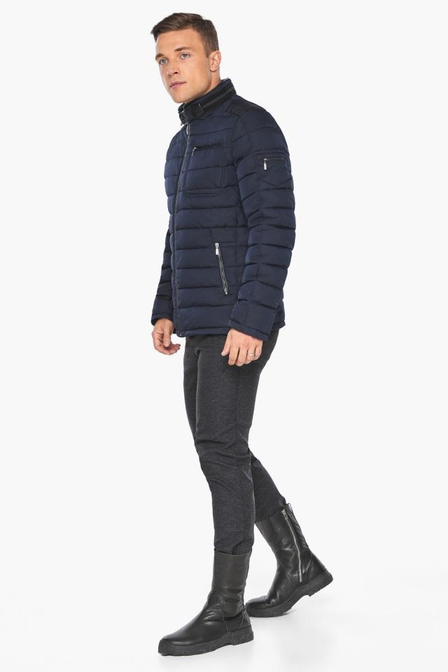 "Куртка – воздуховик с карманами зимний тёмно-синий мужской модель 52570 Braggart ""Angel's Fluff Man"" фото 2"