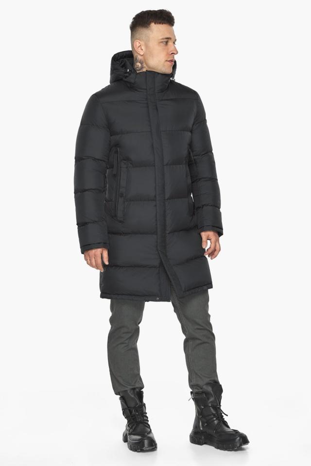 """Длинная куртка для мужчин зимняя графитовая модель 49773 Braggart """"Dress Code"""" фото 9"""