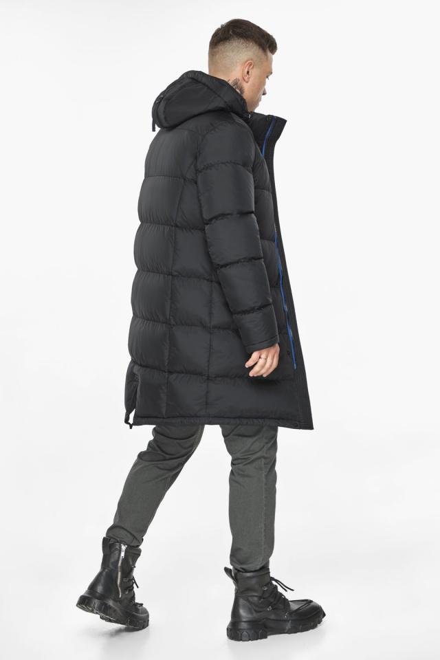 """Длинная куртка для мужчин зимняя графитовая модель 49773 Braggart """"Dress Code"""" фото 6"""