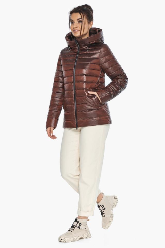 """Оригинальная куртка женская цвет каштановый модель 68240 Braggart """"Angel's Fluff"""" фото 5"""