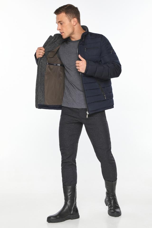 "Куртка – воздуховик с карманами зимний тёмно-синий мужской модель 52570 Braggart ""Angel's Fluff Man"" фото 4"