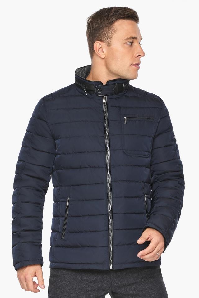 "Куртка – воздуховик с карманами зимний тёмно-синий мужской модель 52570 Braggart ""Angel's Fluff Man"" фото 3"