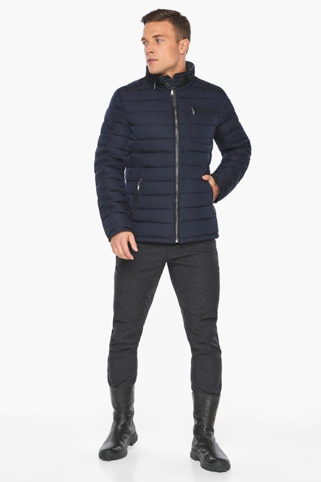 "Куртка – воздуховик с карманами зимний тёмно-синий мужской модель 52570 Braggart ""Angel's Fluff Man"" фото 5"