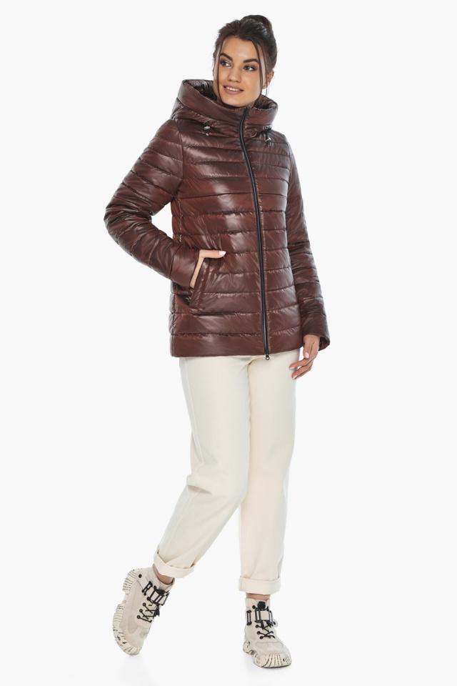 """Оригинальная куртка женская цвет каштановый модель 68240 Braggart """"Angel's Fluff"""" фото 3"""