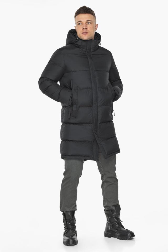 """Длинная куртка для мужчин зимняя графитовая модель 49773 Braggart """"Dress Code"""" фото 4"""