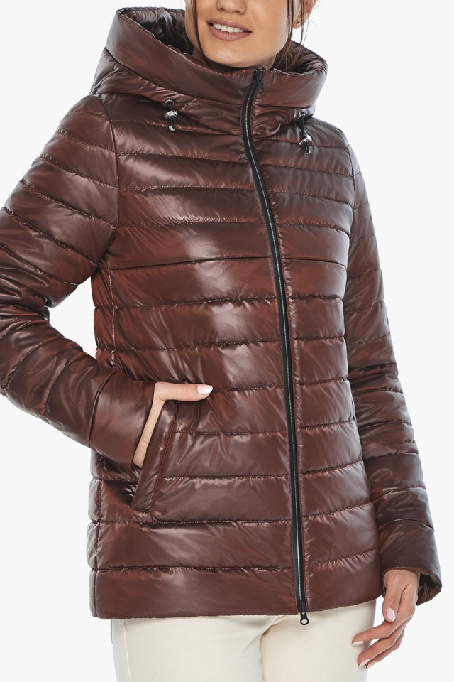 """Оригинальная куртка женская цвет каштановый модель 68240 Braggart """"Angel's Fluff"""" фото 8"""