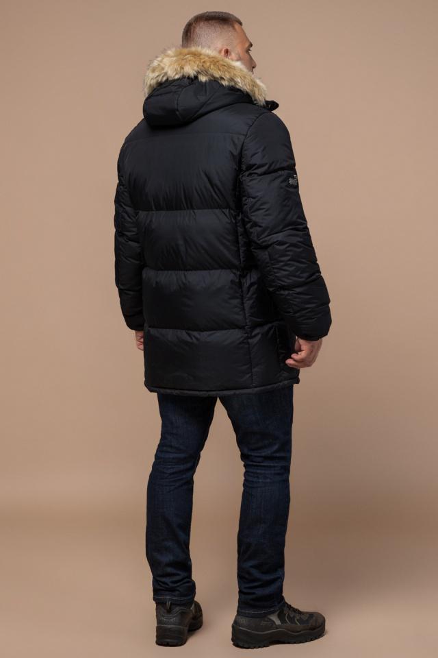 """Мужская куртка большого размера черная зимняя модель 2084 Braggart """"Titans"""" фото 5"""