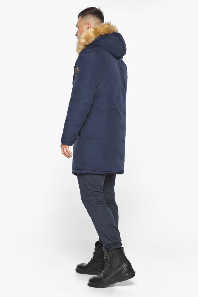 """Куртка – воздуховик стильный мужской зимний тёмно-синий модель 30618 Braggart """"Angel's Fluff Man"""" фото 8"""