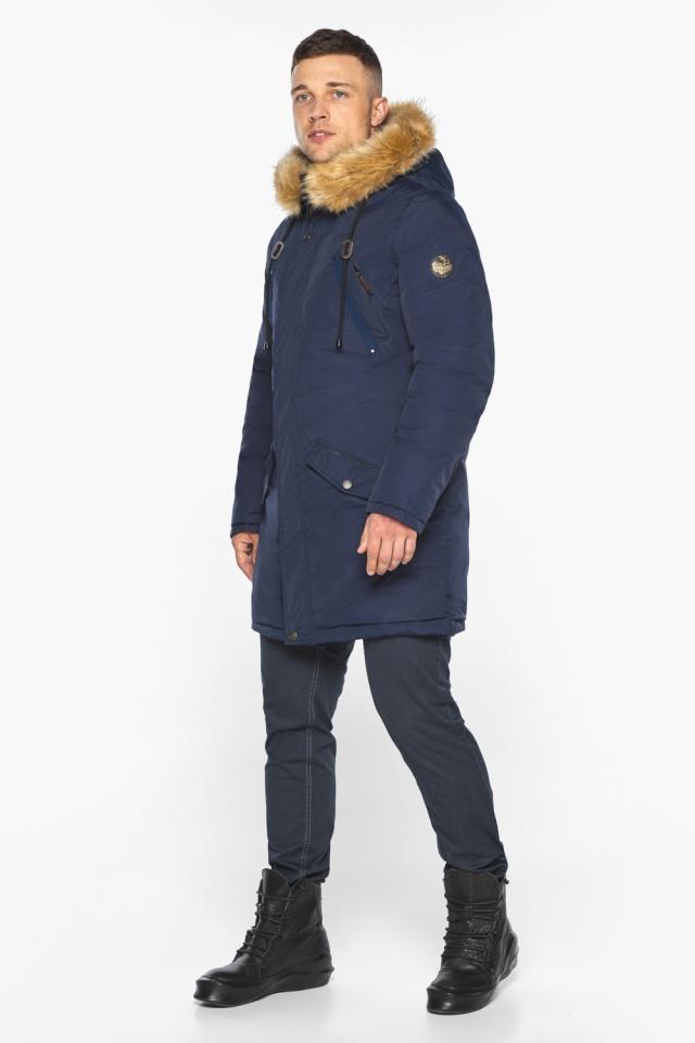 """Куртка – воздуховик стильный мужской зимний тёмно-синий модель 30618 Braggart """"Angel's Fluff Man"""" фото 7"""