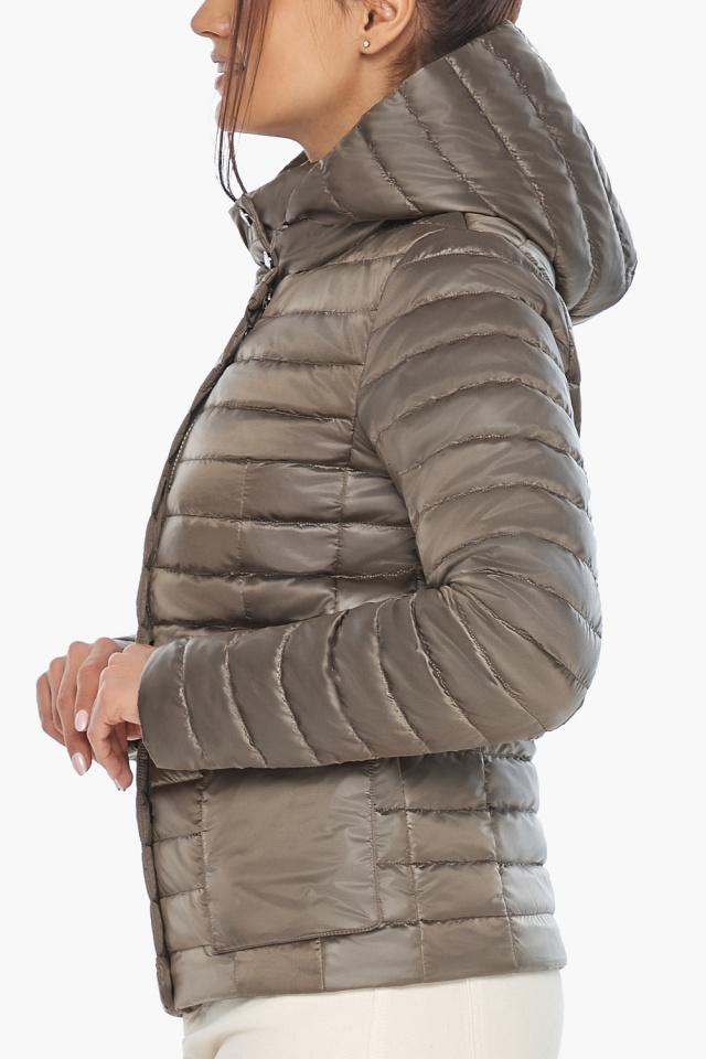 """Короткая капучиновая куртка женская модель 67510 Braggart """"Angel's Fluff"""" фото 8"""