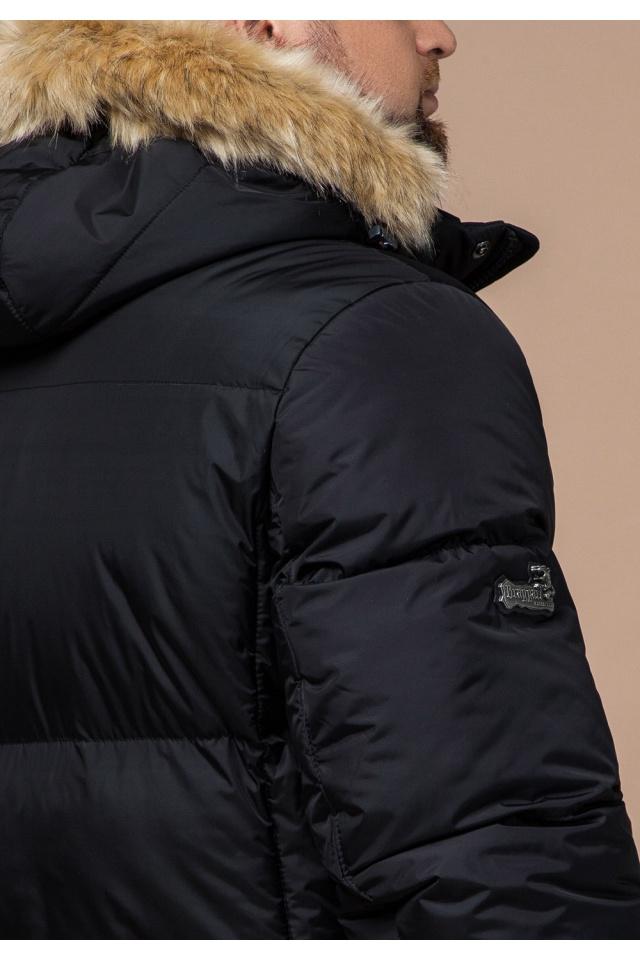 """Мужская куртка большого размера черная зимняя модель 2084 Braggart """"Titans"""" фото 8"""