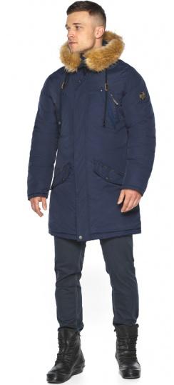 """Куртка – воздуховик стильный мужской зимний тёмно-синий модель 30618 Braggart """"Angel's Fluff Man"""" фото 1"""