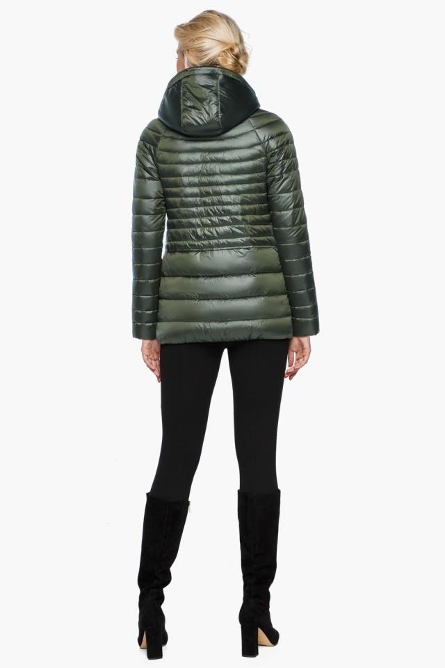 """Куртка с капюшоном женская осенне-весенняя цвет темный хаки модель 15115 Braggart """"Angel's Fluff"""" фото 5"""