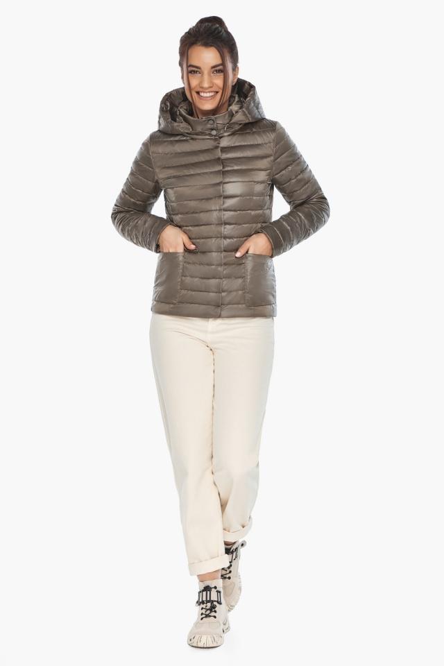 """Короткая капучиновая куртка женская модель 67510 Braggart """"Angel's Fluff"""" фото 2"""