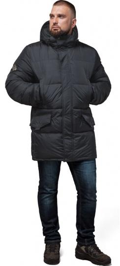 """Мужская куртка большого размера теплая графитовая зимняя модель 3284 Braggart """"Titans"""" фото 1"""