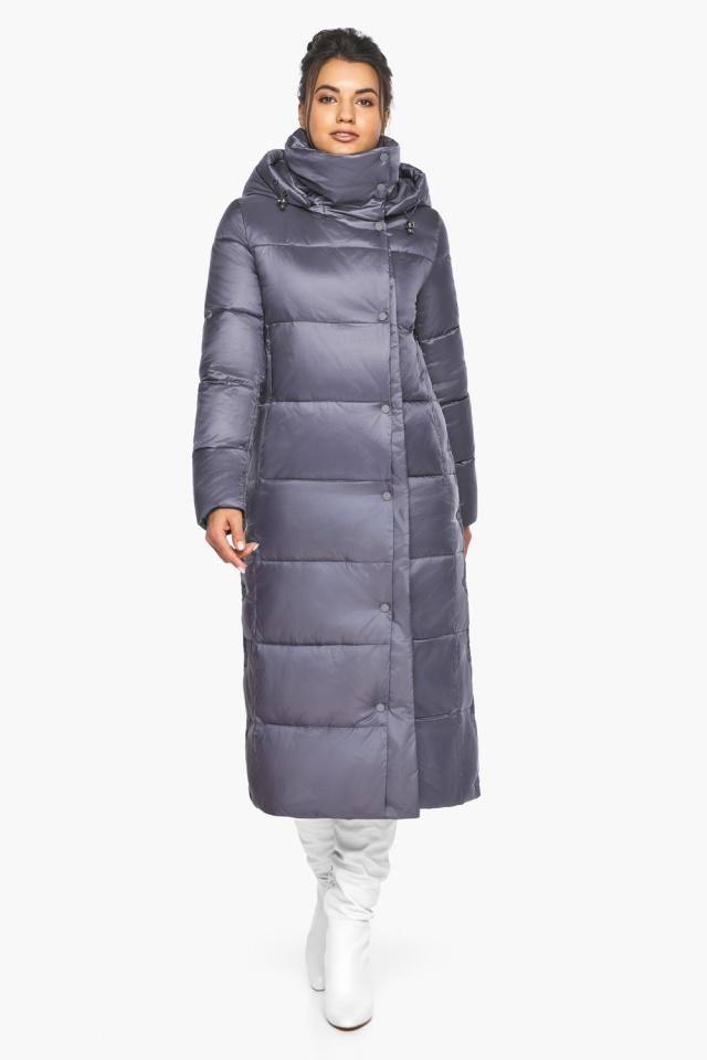"""Женская зимняя куртка длинная цвет жемчужно-серый модель 41830 Braggart """"Angel's Fluff"""" фото 2"""