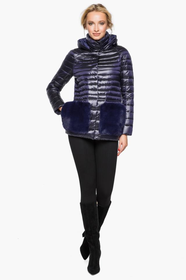 """Фирменная фиолетовая куртка женская осенне-весенняя модель 15115 Braggart """"Angel's Fluff"""" фото 4"""