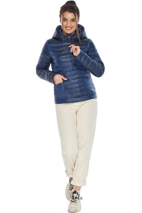 """Куртка сапфировая женская с капюшоном модель 67510 Braggart """"Angel's Fluff"""" фото 1"""