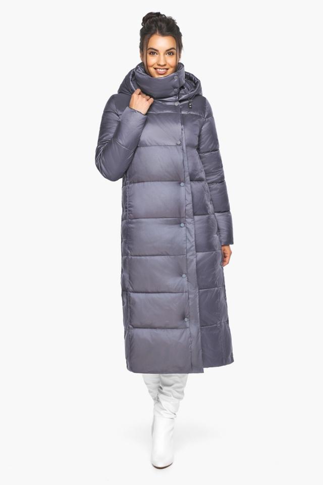 """Женская зимняя куртка длинная цвет жемчужно-серый модель 41830 Braggart """"Angel's Fluff"""" фото 5"""