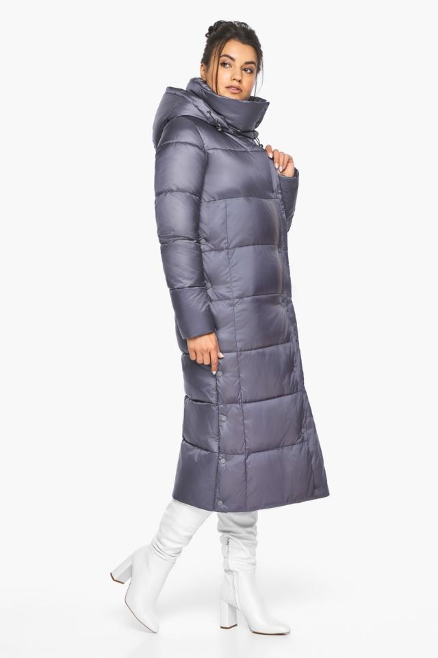 """Женская зимняя куртка длинная цвет жемчужно-серый модель 41830 Braggart """"Angel's Fluff"""" фото 6"""