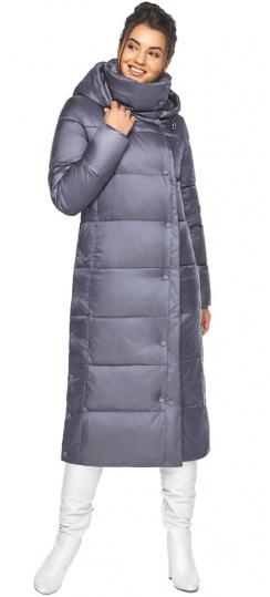 """Женская зимняя куртка длинная цвет жемчужно-серый модель 41830 Braggart """"Angel's Fluff"""" фото 1"""