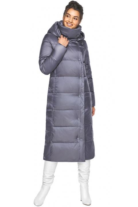 """Жіноча зимова куртка довга колір перлинно-сірий модель 41830 Braggart """"Angel's Fluff"""" фото 1"""