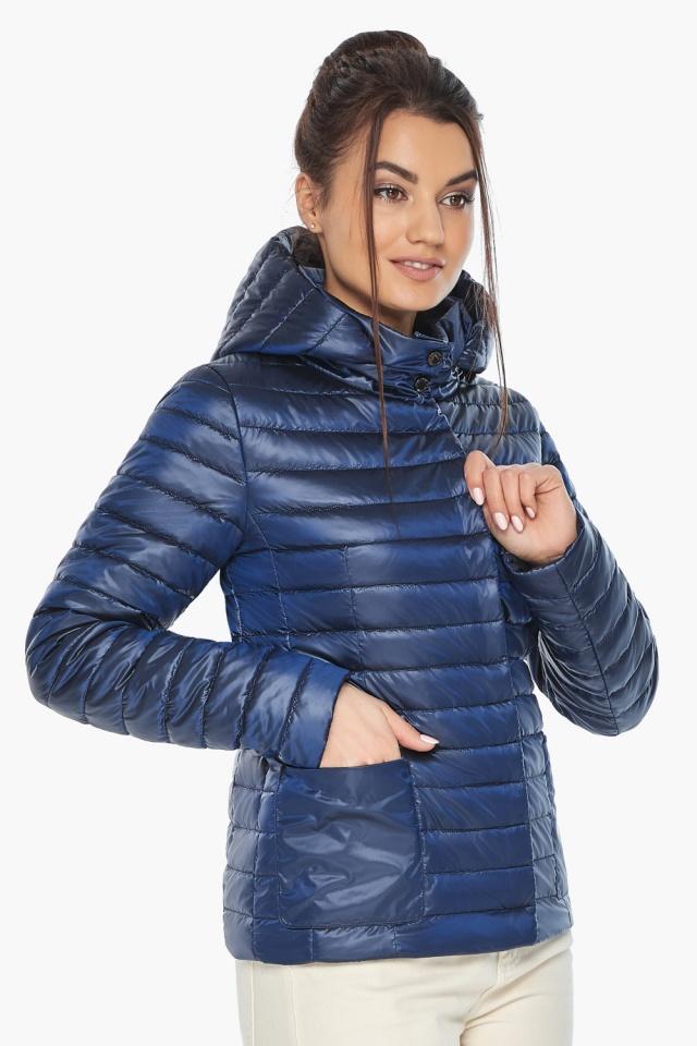 """Куртка сапфировая женская с капюшоном модель 67510 Braggart """"Angel's Fluff"""" фото 3"""