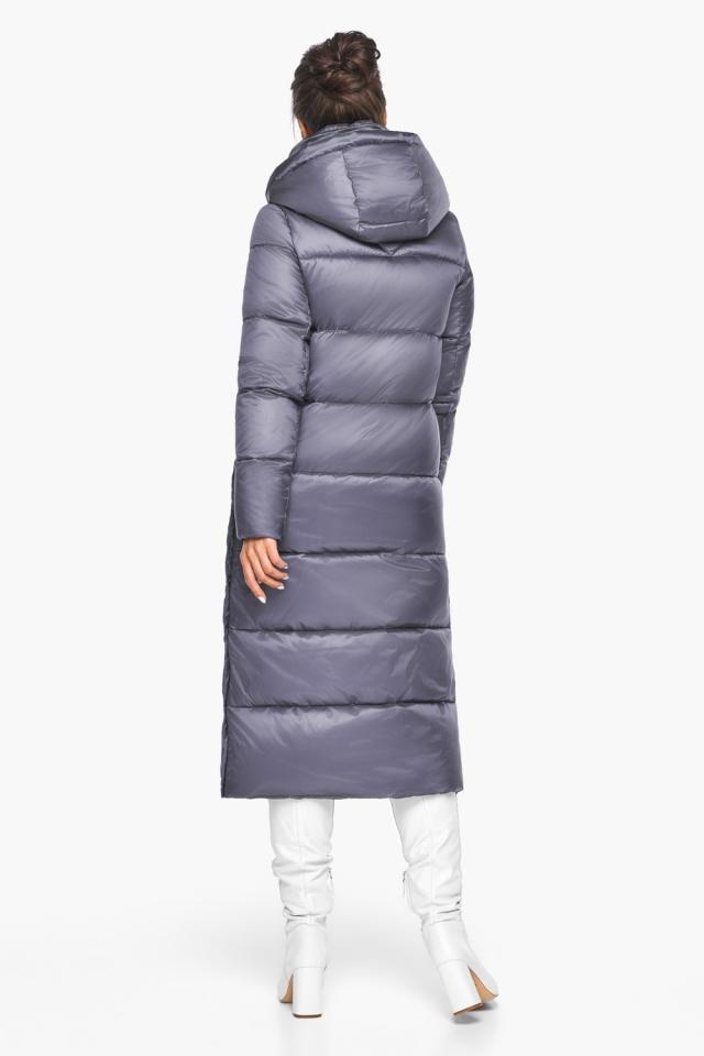 """Женская зимняя куртка длинная цвет жемчужно-серый модель 41830 Braggart """"Angel's Fluff"""" фото 7"""
