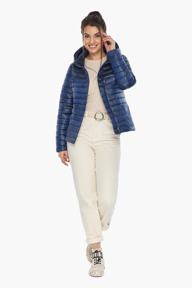 """Куртка сапфировая женская с капюшоном модель 67510 Braggart """"Angel's Fluff"""" фото 4"""