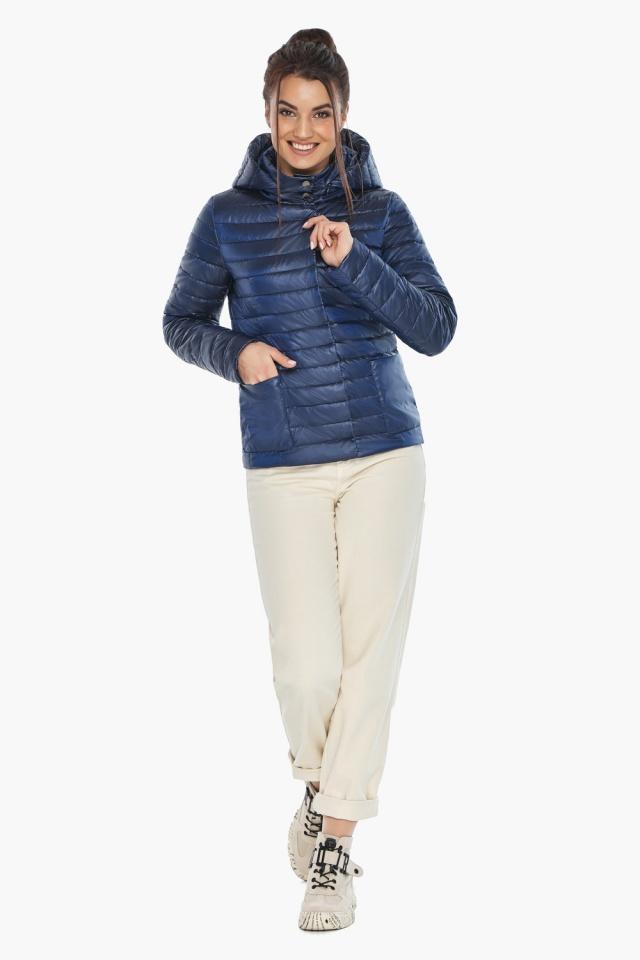 """Куртка сапфировая женская с капюшоном модель 67510 Braggart """"Angel's Fluff"""" фото 2"""