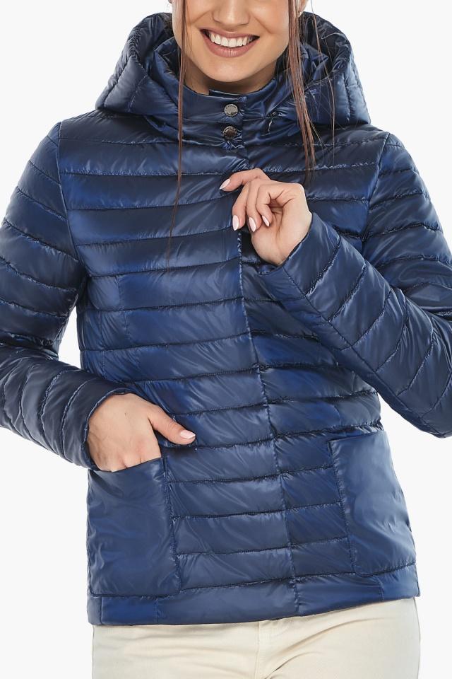 """Куртка сапфировая женская с капюшоном модель 67510 Braggart """"Angel's Fluff"""" фото 7"""