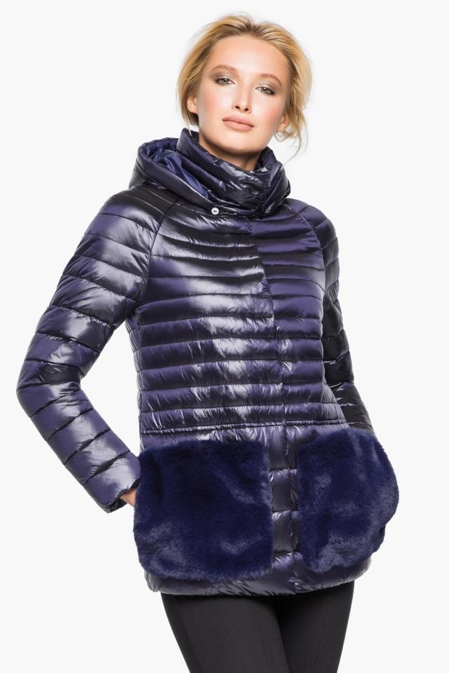 """Фирменная фиолетовая куртка женская осенне-весенняя модель 15115 Braggart """"Angel's Fluff"""" фото 3"""