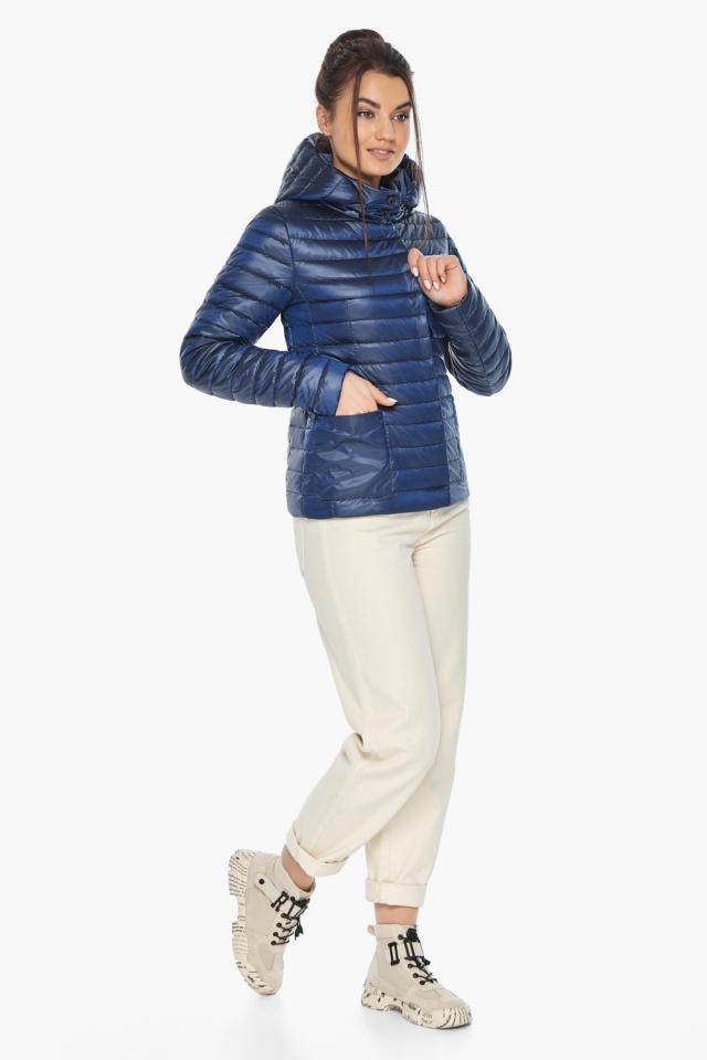 """Куртка сапфировая женская с капюшоном модель 67510 Braggart """"Angel's Fluff"""" фото 5"""