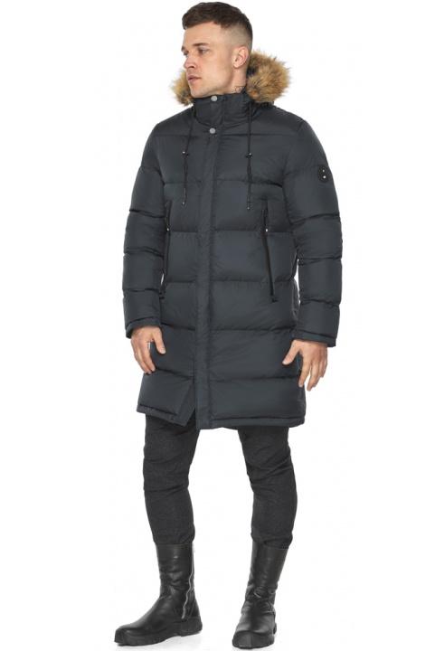 """Мужская зимняя куртка с глубокими карманами графитовая модель 49318 Braggart """"Dress Code"""" фото 1"""